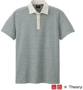 Uniqlo X Theory Dry Pique Short Sleeve Cleric Polo Shirt