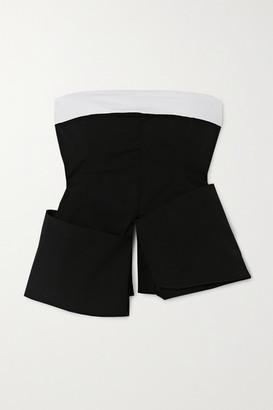 A.W.A.K.E. Mode Asymmetric Stretch-cotton Top - Black
