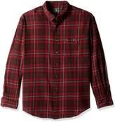 G.H. Bass & Co. Men's Tall Fireside Flannel Plaid Long Sleeve Shirt