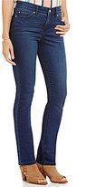 Code Bleu Petite Chelsea Slimming Straight Leg Embroidered Back-Pocket Jeans