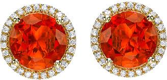 Kiki McDonough Grace 18k Round Fire Opal Diamond Stud Earrings