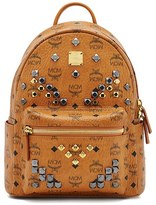 MCM 'Small Stark - Visetos' Studded Backpack - Brown