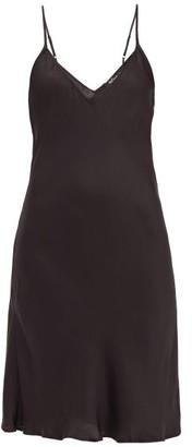 Mes Demoiselles Loulou Satin Slip Dress - Black