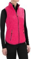 Head Snow Leopard Sweater-Knit Vest (For Women)