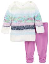 Splendid Mixed Yarn Sweater & Legging Set (Baby Girls)
