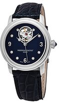 Frederique Constant Women's 'Ladies' Automatic Stainless Steel and Leather Casual Watch, Color:Blue (Model: FC-310HBAND2P6)