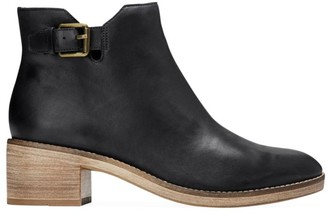 Cole Haan Harrington Grand Buckle Leather Ankle Boots