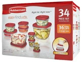 Rubbermaid Easy Find Lids Food Storage Container Set, 34-piece