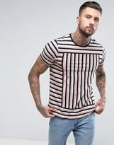 Diesel T-Edwin Stripe T-Shirt