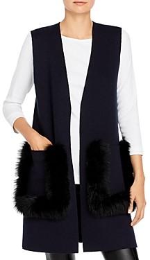 Kobi Halperin Amelia Fur Pocket Sweater Vest