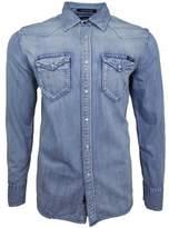 Replay LS Faded Denim Shirt blue