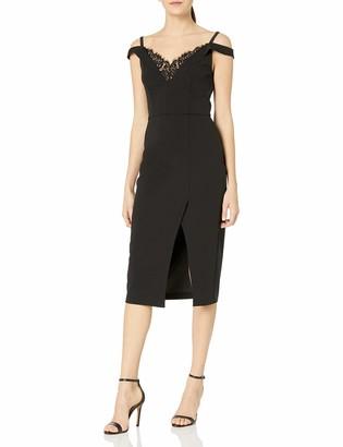 ABS by Allen Schwartz Women's Cocktail Dress W/Lingerie Detial & Off Shoulder