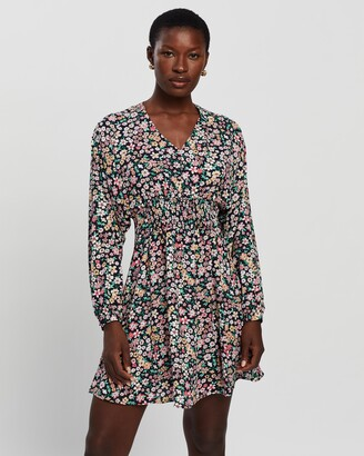 Only Women's Multi Long Sleeve Dresses - Tamara LS Printed Dress - Size L at The Iconic