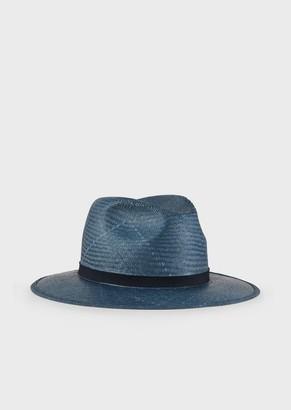 Giorgio Armani Wide-Brimmed Raffia Hat