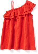 Old Navy One-Shoulder Tiered-Ruffle Dress for Baby
