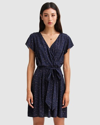 Belle & Bloom Women's Navy Mini Dresses - I'm The Star Wrap Dress - Size One Size, S at The Iconic