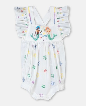 Stella Mccartney Kids Mermaids Embroidery Cotton Body, Unisex
