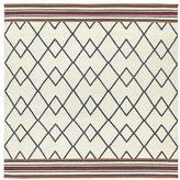 Tribeca Flatweave Ziggy Grey Wool Rug (8' Square)