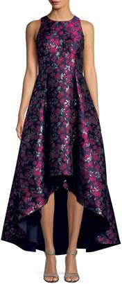 Aidan Mattox Aidan Sleeveless Metallic Floral Dress