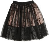 Stella McCartney Embroidered Stretch Tulle Skirt