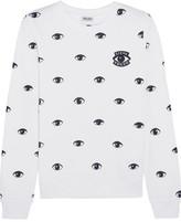 Kenzo Appliquéd Printed Cotton-jersey Sweatshirt - x small
