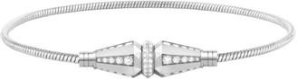 Boucheron Jack de 18K White Gold & Diamond Single-Wrap Cable Bracelet