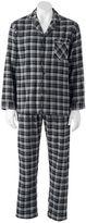 Hanes Men's Plaid Flannel Pajama Set