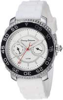 Tommy Bahama Women's Quartz Stainless Steel and Silicone Casual Watch, Color:White (Model: TB00025-03)