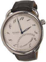 Hermes White Steel Watch Arceau