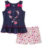 Kids Headquarters 2-Pc. Top & Floral-Print Shorts Set, Baby Girls