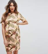 Asos Smart Dress In Tropical Print