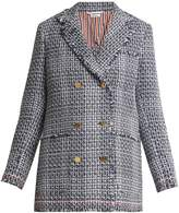 Thom Browne Madras double-breasted cotton-blend tweed jacket