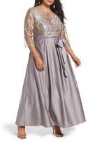 Alex Evenings Plus Size Women's Embroidered Bodice Ballgown