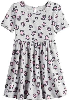 Toddler Girl Jumping Beans Leopard Skater Dress
