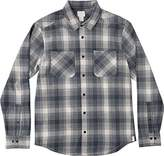 RVCA Men's Neutral Plaid Long Sleeve Woven Shirt