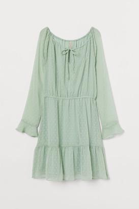 H&M Short Chiffon Dress - Green