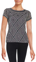 Adrianna Papell Sequined Roundneck Top