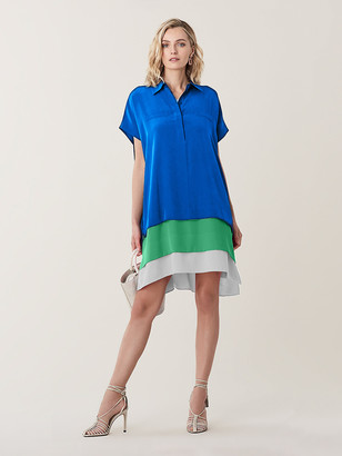 Diane von Furstenberg Hatsu Silk Crepe De Chine Shirt Dress