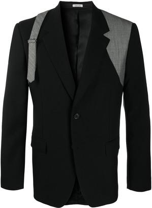 Alexander McQueen Buckle-Detail Blazer