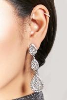 Forever 21 Pave Teardrop Drop Earrings