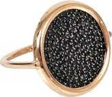 ginette_ny Large black diamond disc ring