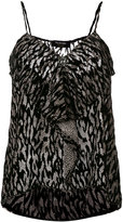 The Kooples leopard devoré camisole - women - Silk/Viscose - 1