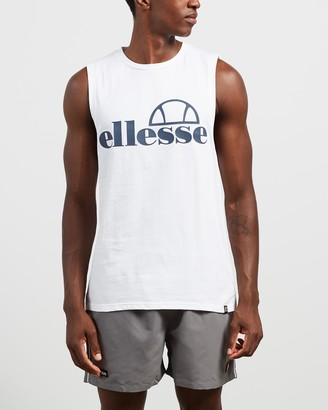Ellesse Men's White Muscle Tops - Terri Muscle Tank - Size M at The Iconic