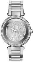 MICHAEL Michael Kors Women's Michael Kors 'Parker' Pave Logo Dial Bracelet Watch, 39Mm