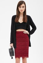 Forever 21 FOREVER 21+ Scallop Lace Pencil Skirt