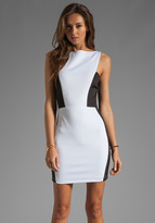 Boulee Demi Dress in Black/White