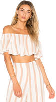 House Of Harlow X REVOLVE Bree Crop Top in Beige. - size L (also in M,S,XL,XS)