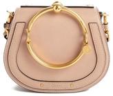 Chloé Small Nile Bracelet Leather Crossbody Bag - Beige