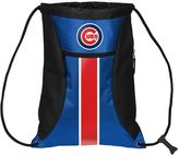 Forever Collectibles Chicago Cubs Striped Zipper Drawstring Backpack