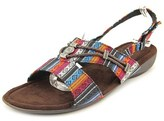 Minnetonka Silvie Women Ww Open-toe Canvas Slingback Sandal.